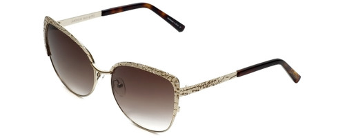 Judith Leiber Designer Sunglasses JL5010-04 in Gold in Brown-Gradient Lens