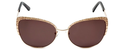Judith Leiber Designer Sunglasses JL5010-06 in Rose-Gold in Brown Lens