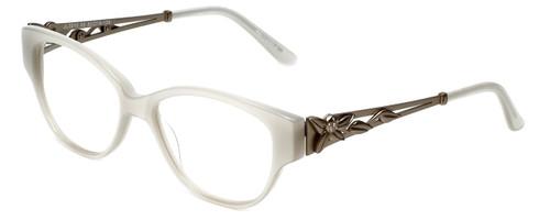 Judith Leiber Designer Eyeglasses JL3010-00 in Opal 52mm :: Rx Single Vision