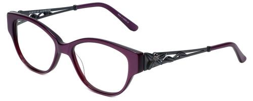 Judith Leiber Designer Eyeglasses JL3010-07 in Amethyst 52mm :: Rx Single Vision