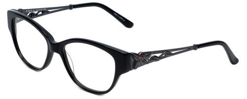 Judith Leiber Designer Eyeglasses JL3010-01 in Onyx 52mm :: Progressive