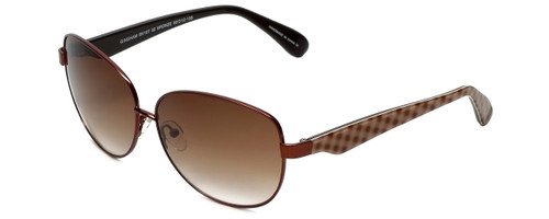 Betsey Johnson Designer Sunglasses Betseyville BV107-02 in Bronze with Brown-Gradient Lens