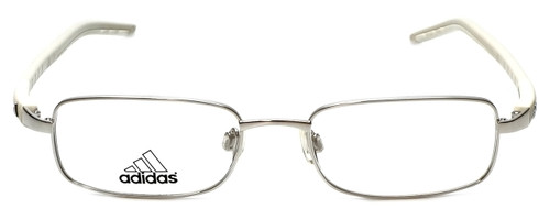 Adidas Designer Kids Reading Glasses a990-00-6050 in Silver-White 49mm