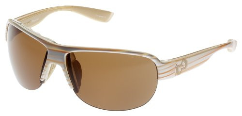 Native Designer Sunglasses Zodiac in Pearl Swirl with Brown Lens