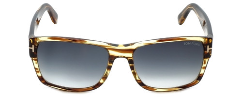 Tom Ford Designer Sunglasses Mason TF445-50B in Striped-Brown with Grey-Gradient Lens