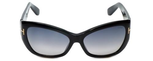 Tom Ford Designer Sunglasses Corinne TF460-01C in Black with Grey-Gradient Lens