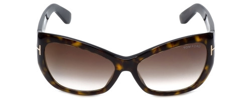 Tom Ford Designer Sunglasses Corinne TF460-52G in Havana with Brown-Gradient Lens