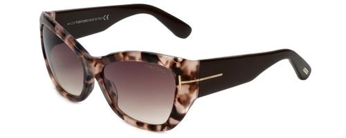 Tom Ford Designer Sunglasses Corinne TF460-74P in Rose-Havana with Rose-Gradient Lens