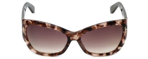 Tom Ford Designer Sunglasses Corinne TF460-74P in Rose-Havana with Rose-Gradient Lens