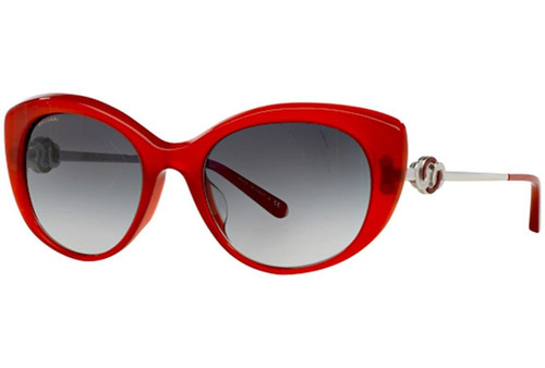 Bvlgari Designer Sunglasses 8141K in Red with Grey Gradient Lens