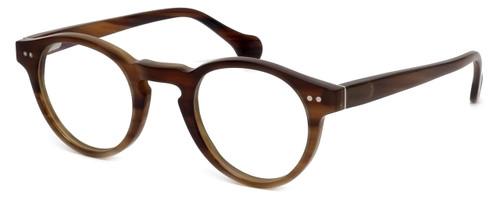 Calabria Elite Designer Reading Glasses CEBH122 in Brown Horn
