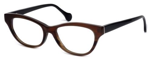 Calabria Elite Designer Reading Glasses CEBH123 in Grey & Brown Horn