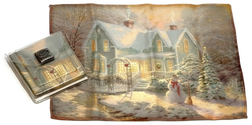 Holiday Christmas Theme Cleaning Cloth, Blessings of Christmas