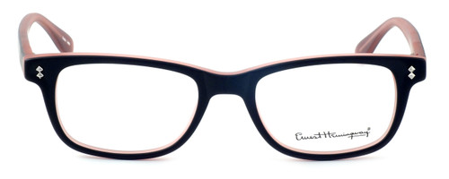 Ernest Hemingway Designer Eyeglasses H4617 (Small Size) in Matte-Black-Pink 48mm :: Custom Left & Right Lens