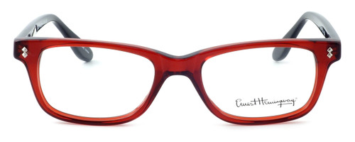 Ernest Hemingway Designer Eyeglasses H4617 (Small Size) in Red-Black 48mm :: Custom Left & Right Lens
