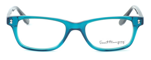 Ernest Hemingway Designer Eyeglasses H4617 (Small Size) in Teal-Black 48mm :: Custom Left & Right Lens