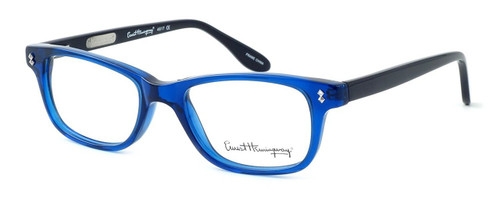 Ernest Hemingway Designer Eyeglasses H4617 (Small Size) in Black-Blue 48mm :: Rx Bi-Focal