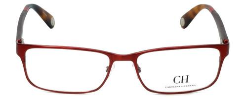 Carolina Herrera Designer Eyeglasses VHE074-08C6 in Red Tortoise 56mm :: Rx Single Vision