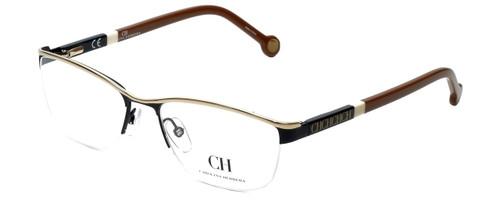 Carolina Herrera Designer Eyeglasses VHE041-0530 in Black Gold 54mm :: Progressive