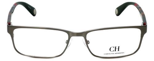 Carolina Herrera Designer Eyeglasses VHE074-0H41 in Gunmetal Tortoise 56mm :: Progressive