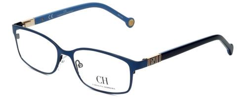 Carolina Herrera Designer Eyeglasses VHE065-08A3 in Blue Gloss 53mm :: Rx Bi-Focal