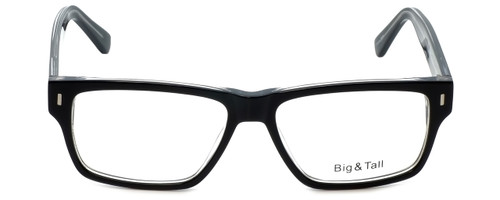 Big and Tall Designer Eyeglasses Big-And-Tall-13-Black-Crystal in Black Crystal 58mm :: Progressive