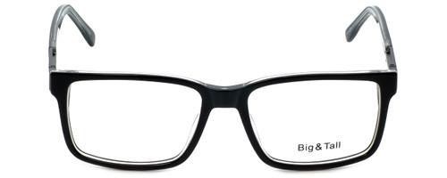 Big and Tall Designer Eyeglasses Big-And-Tall-14-Black-Crystal in Black Crystal 58mm :: Progressive