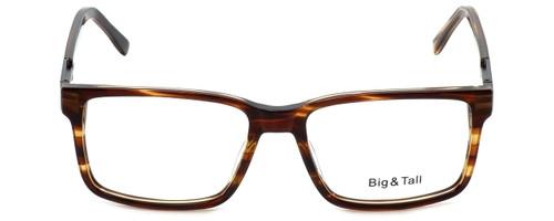 Big and Tall Designer Eyeglasses Big-And-Tall-14-Demi-Brown in Demi Brown 58mm :: Progressive