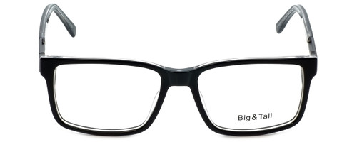 Big and Tall Designer Eyeglasses Big-And-Tall-14-Black-Crystal in Black Crystal 58mm :: Rx Bi-Focal