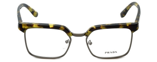 Prada Designer Eyeglasses VPR15S-UBL1O1 in Yellow Havana 52mm :: Progressive
