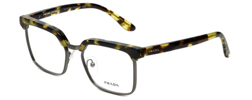 Prada Designer Eyeglasses VPR15S-UBL1O1 in Yellow Havana 52mm :: Rx Bi-Focal