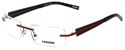Renoma Designer Reading Glasses R1008-3510 in Red 52mm