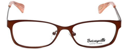 Betsey Johnson Designer Eyeglasses Gingham BV106-02 in Bronze 51mm :: Rx Bi-Focal
