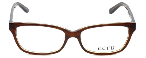 Ecru Designer Eyeglasses Beck-004 in Brown 53mm :: Custom Left & Right Lens