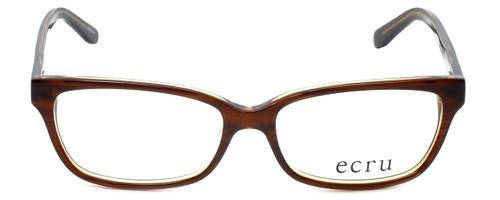 Ecru Designer Eyeglasses Beck-004 in Brown 53mm :: Rx Single Vision