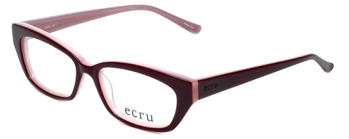 Ecru Designer Eyeglasses Bowie-001 in Wine 50mm :: Rx Bi-Focal