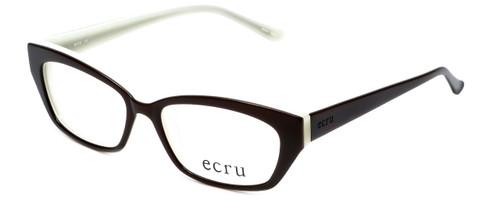 Ecru Designer Eyeglasses Bowie-002 in Brown 50mm :: Rx Bi-Focal