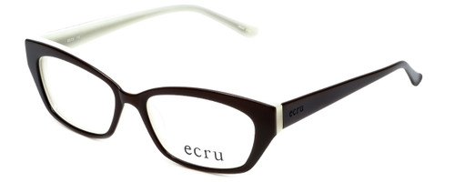 Ecru Designer Reading Glasses Bowie-002 in Brown 50mm