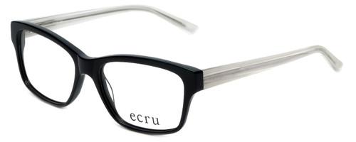 Ecru Designer Eyeglasses Collins-036 in Black 53mm :: Rx Single Vision