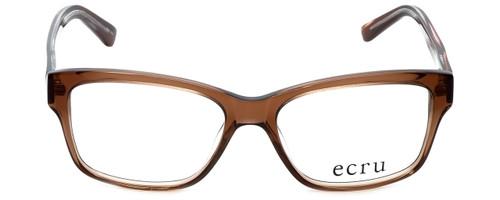 Ecru Designer Eyeglasses Collins-037 in Brown 53mm :: Rx Single Vision