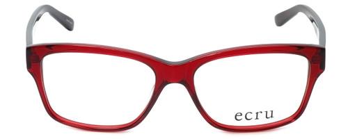 Ecru Designer Eyeglasses Collins-062 in Red 53mm :: Rx Bi-Focal