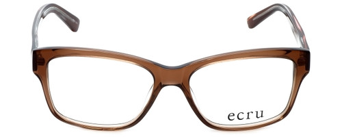 Ecru Designer Reading Glasses Collins-037 in Brown 53mm