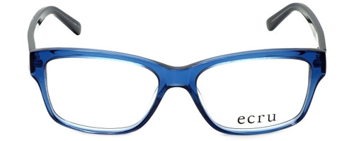 Ecru Designer Reading Glasses Collins-038 in Blue 53mm