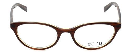Ecru Designer Reading Glasses Daltrey-004 in Brown 50mm