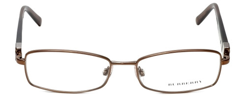 Burberry Designer Eyeglasses B1145-1016 in Gold & Brown 53mm :: Progressive