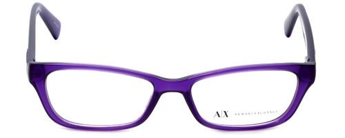 Giorgio Armani Designer Eyeglasses AX3008-8009 in Bright Grape Transparent 49mm :: Custom Left & Right Lens