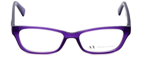 Giorgio Armani Designer Eyeglasses AX3008-8009 in Bright Grape Transparent 49mm :: Rx Single Vision