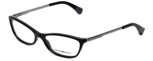 Emporio Armani Designer Eyeglasses EA3014-5017 in Black/Violet 54mm :: Custom Left & Right Lens