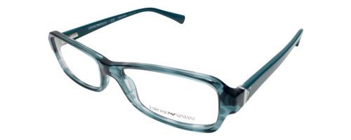 Emporio Armani Designer Eyeglasses EA3016-5101 in Blue Green 53mm :: Custom Left & Right Lens