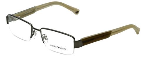 Emporio Armani Designer Reading Glasses EA1001-3003 in Matte Gunmetal 52mm